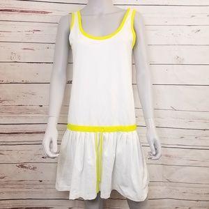Anthropologie L'EOILE Tennis Dress - White Yellow
